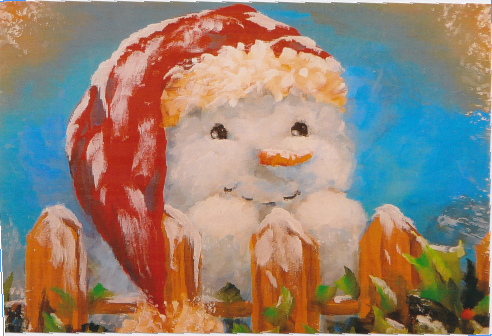 Red Hat Snowman - E-Packet - Patty Stouffer