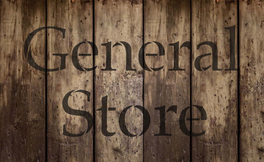 "General Store - Serif - Word Stencil - 13"" x 8"" - STCL2069_1 - by StudioR12"