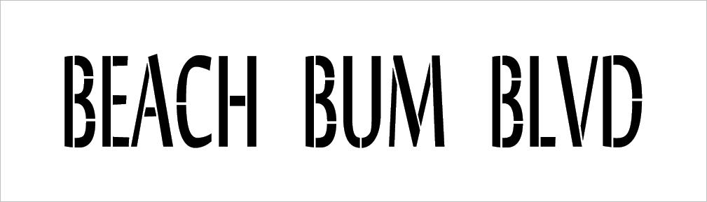 "Beach Bum Blvd - Word Stencil - 17"" x 5"" - STCL2073_2 - by StudioR12"
