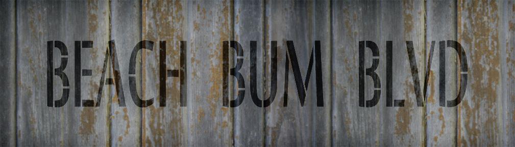 "Beach Bum Blvd - Word Stencil - 30"" x 8"" - STCL2073_5 - by StudioR12"