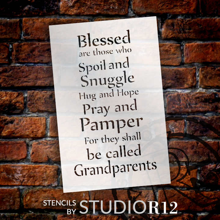 "Blessed Are Those - Grandparents - Word Stencil - 18"" x 30"" - STCL2082_5 - by StudioR12"
