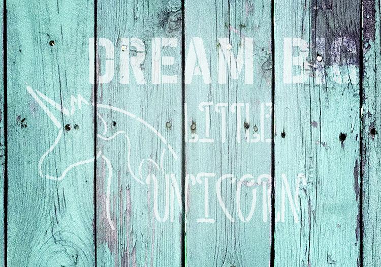 "Dream Big Little Unicorn - Word Art Stencil - 16"" x 11"" - STCL2093_3 - by StudioR12"
