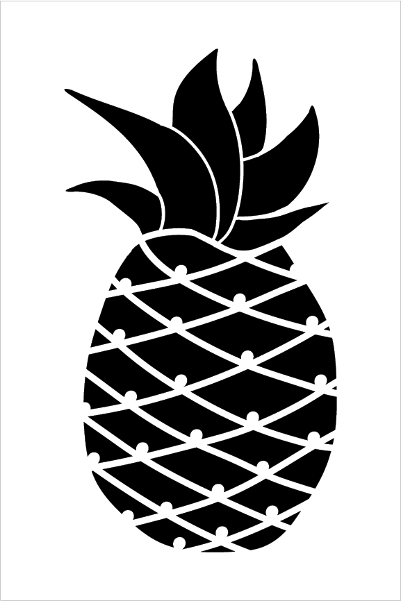 Pineapple Art Stencil 8 X 12 Stcl2116 1 By Studior12