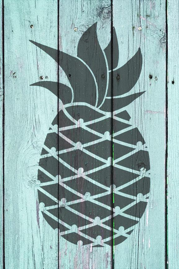 "Pineapple  - Art Stencil - 10"" x 16"" - STCL2116_2 - by StudioR12"