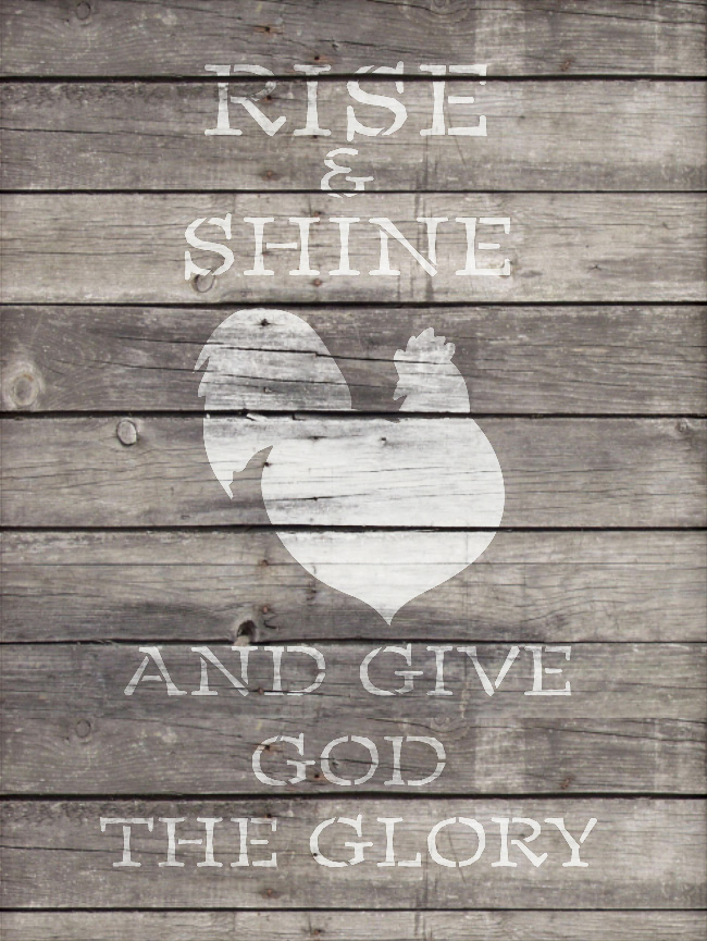 """Give God The Glory - Rooster - Word Art Stencil - 14"""" x 21"""" - STCL1861_4 - by StudioR12"""