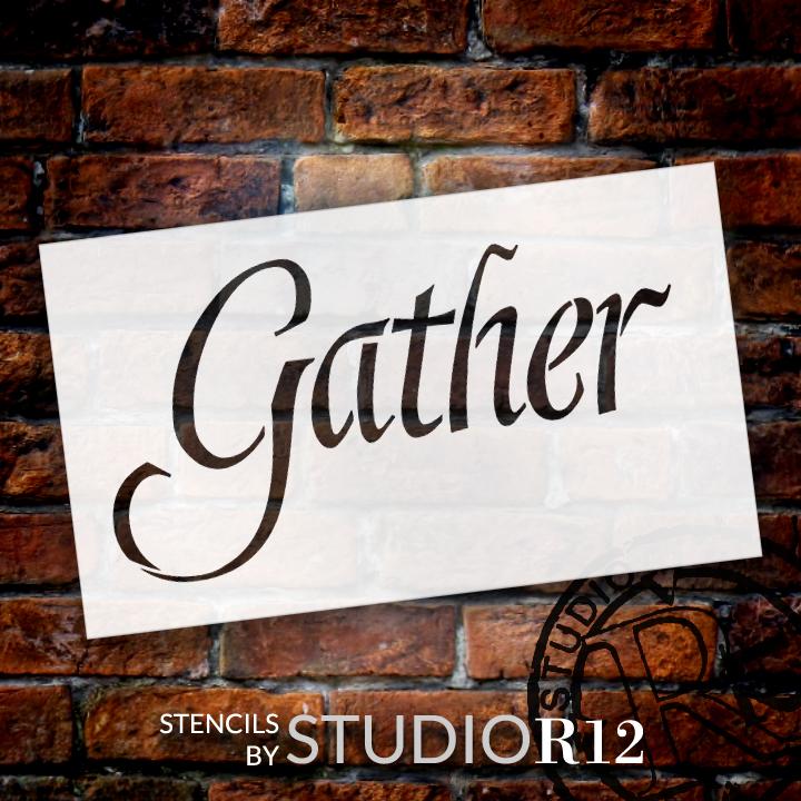 "Gather - Graceful  - Word Stencil - 12"" x 7"" - STCL2154_1 - by StudioR12"