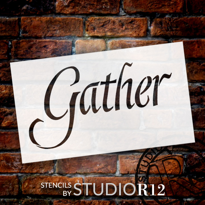 "Gather - Graceful  - Word Stencil - 24"" x 14"" - STCL2154_4 - by StudioR12"