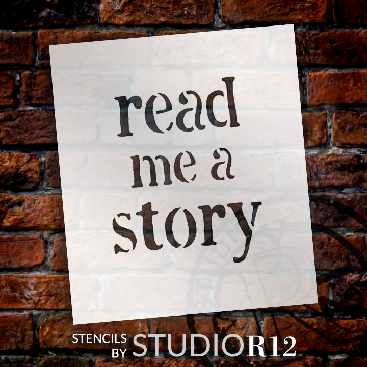 "Read - Fun Style - Word Stencil - 15"" x 18"" - STCL1846_6 - by StudioR12"