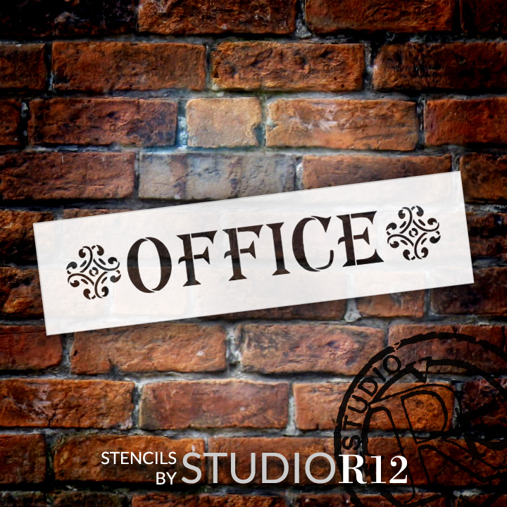 "Office - Classic - Word Art Stencil - 21"" x 6"" - STCL1842_4 - by StudioR12"