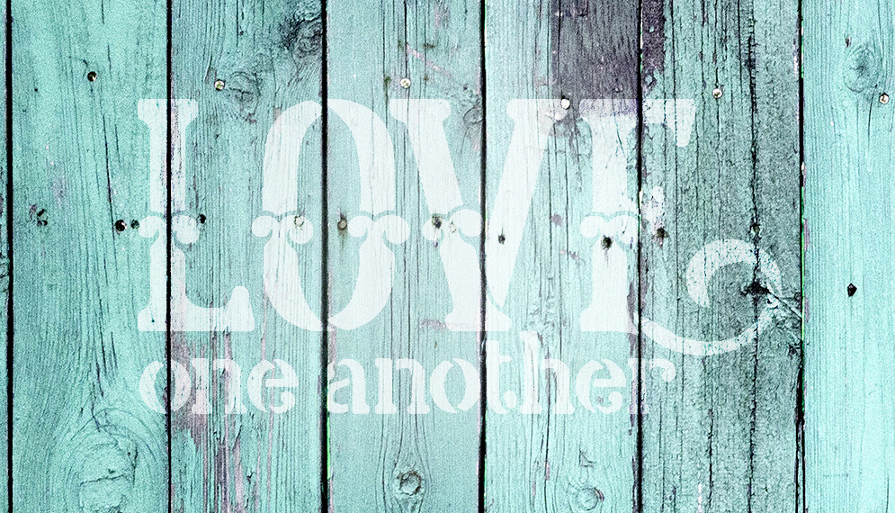 "Love One Another - Celtic Style - Word Art Stencil - 16"" x 9"" - STCL1839_4 - by StudioR12"