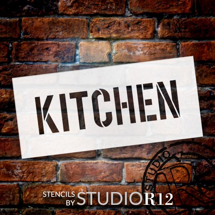 "Kitchen - Simple - Word Stencil - 12"" x 5"" - STCL1835_3 - by StudioR12"