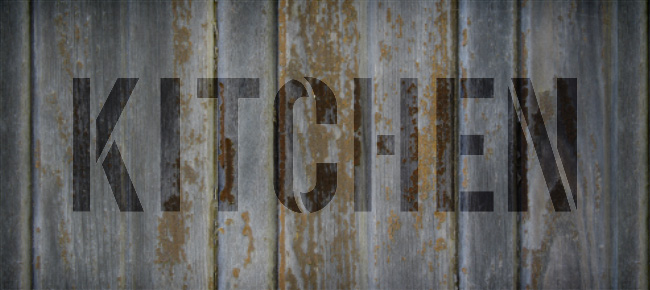 "Kitchen - Simple - Word Stencil - 18"" x 7"" - STCL1835_5 - by StudioR12"
