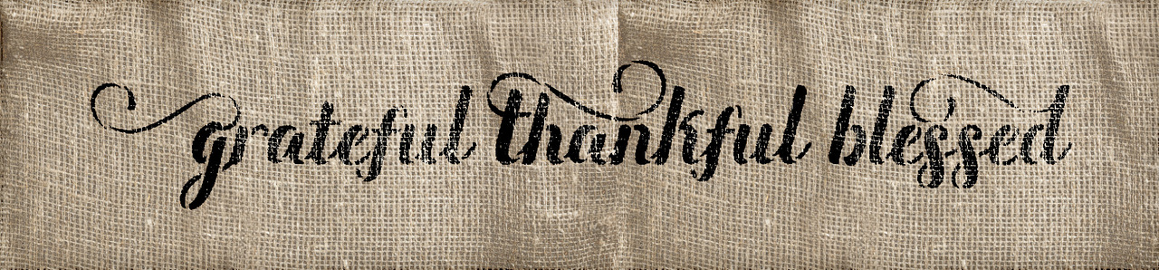 "Grateful Thankful Blessed - Elegant Script - 19"" x 5"" - STCL1829_3 - by StudioR12"
