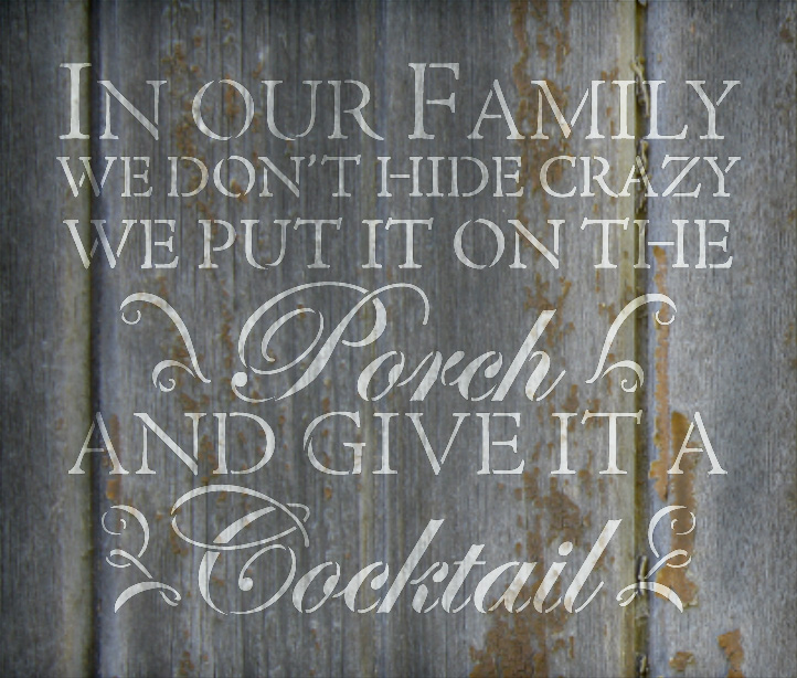 "Crazy Family - Word Stencil - 19"" x 16"" - STCL1823_4 - by StudioR12"