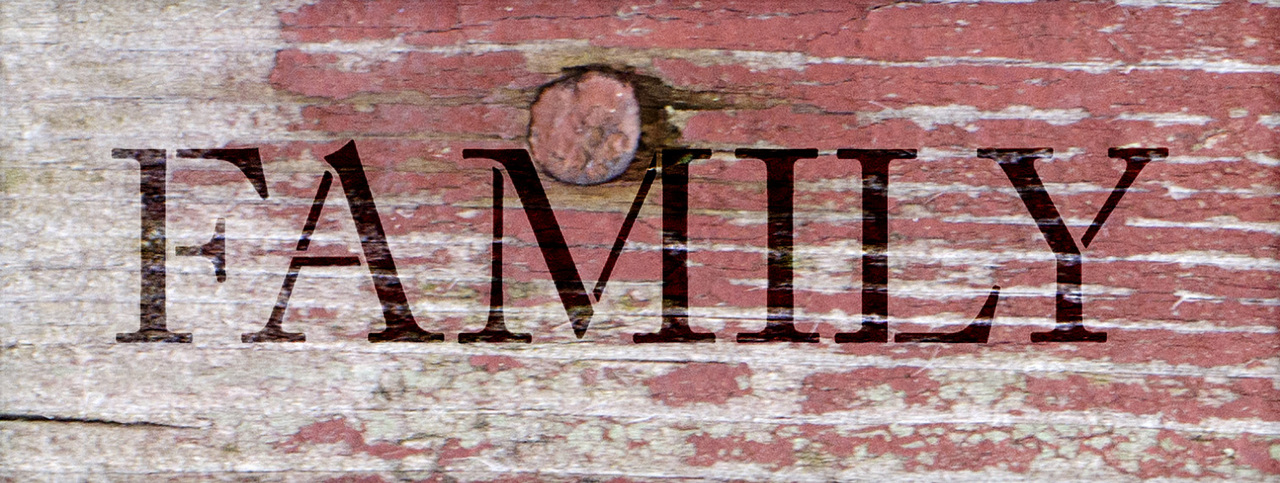 """Family - Word Stencil - 17"""" x 6"""" - STCL1003_4 - by StudioR12"""