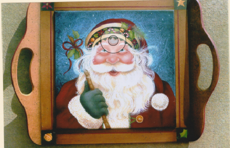 Merry Olde Claus Tray - E- Packet - Judith Westegaard