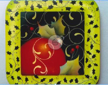 Pepperleaf Christmas Ornament Plate - E- Packet - Judith Westegaard