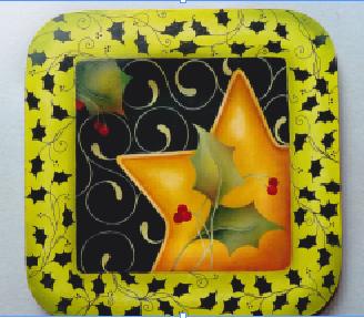 Pepperleaf Christmas Star Plate - E- Packet - Judith Westegaard