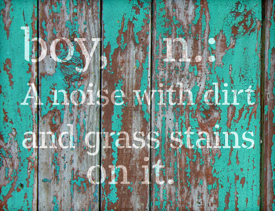"""Boy - Noise Dirt Stains - Word Stencil - 16"""" x 13"""" - STCL2170_2 - by StudioR12"""
