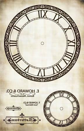"E. Howard Co Clock Image Transfer Paper - Antique 16"" x 10.5"""