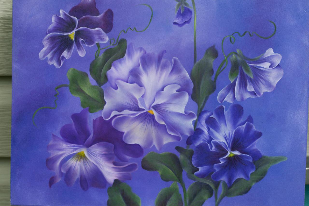 Purple Pansies - E-Packet - Debra Welty