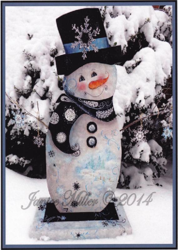 Tangled Snowflake Snowman - E-Packet - Janice Miller