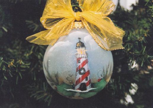 Lighthouse Glass Ornament - E-Packet - Janice Miller