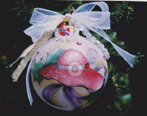 Red Hat Ornament - E-Packet - Janice Miller
