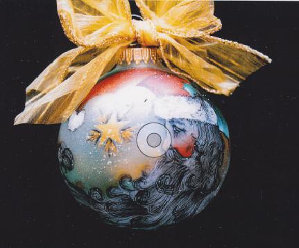Santa Moon Ornament - E-Packet - Janice Miller