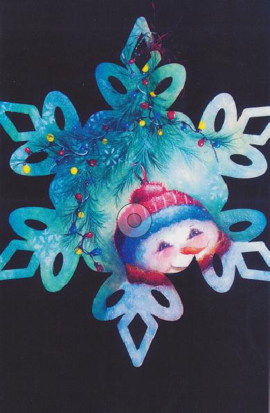 Snowman Snowflake Ornament - E-Packet - Janice Miller