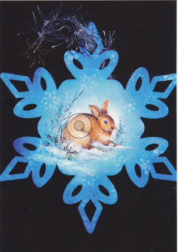 Winter Bunny Snowflake Ornament - E-Packet - Janice Miller