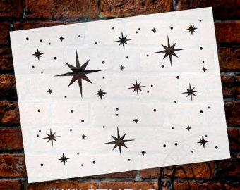 "Twinkle Stars Stencil - 27"" x 20"" - STCL578_5 - by StudioR12"