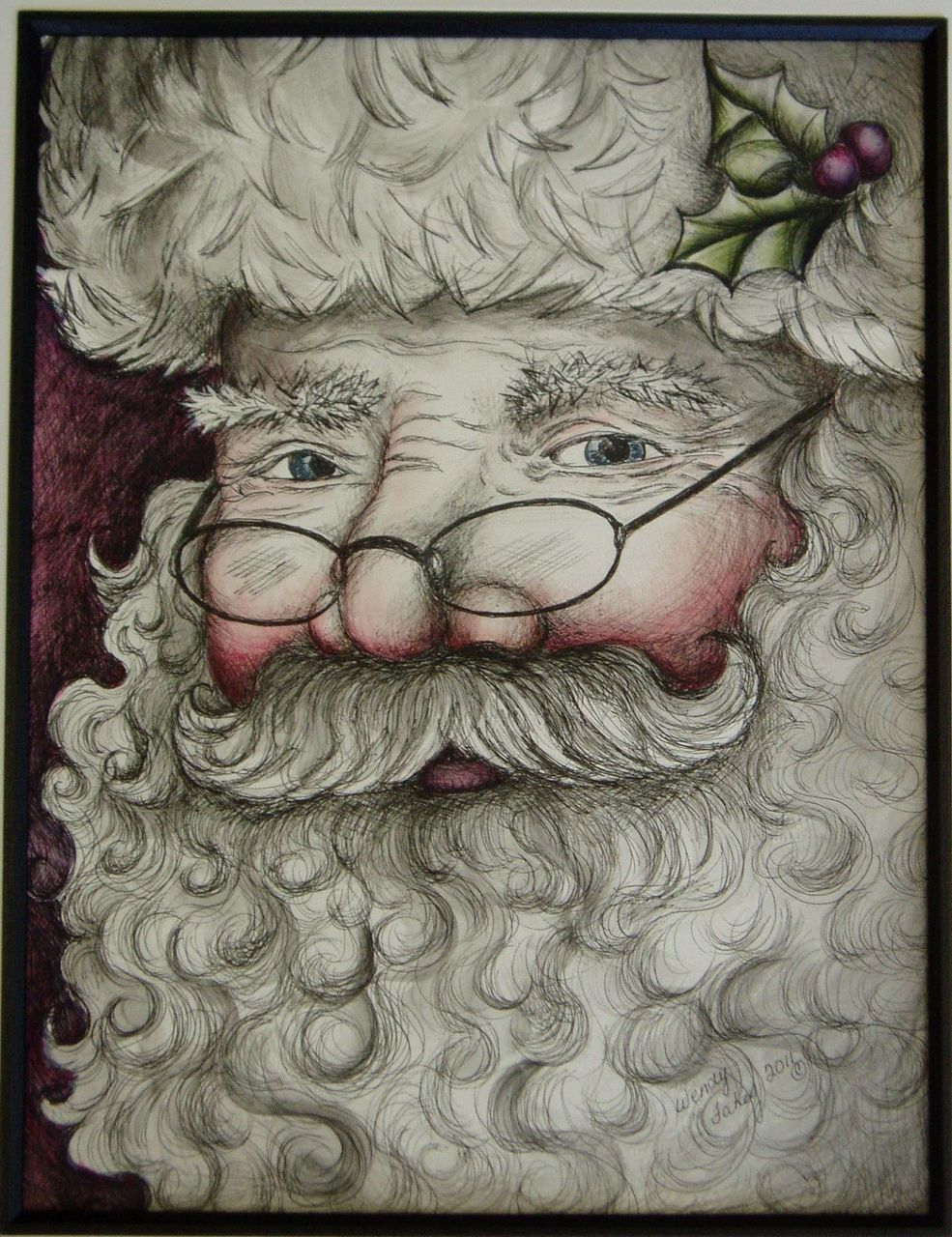 Santa Pen & Ink - E-Packet - Wendy Fahey