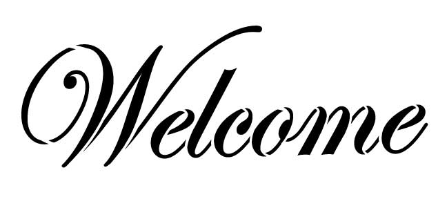 """Welcome - Word Stencil - 12"""" x 5.5"""" - STCL310_2"""