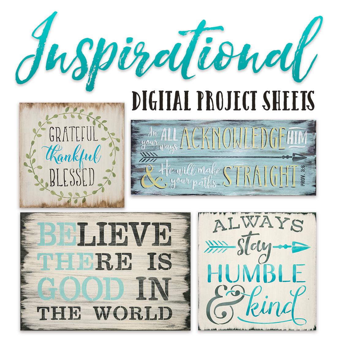 Inspirational Digital Project Sheets