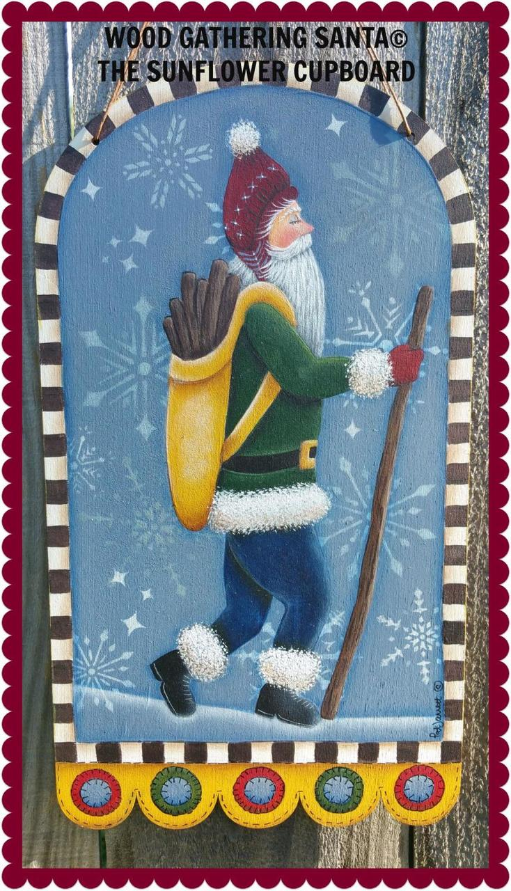 Wood Gathering Santa - E-Packet - Pat Jarrett