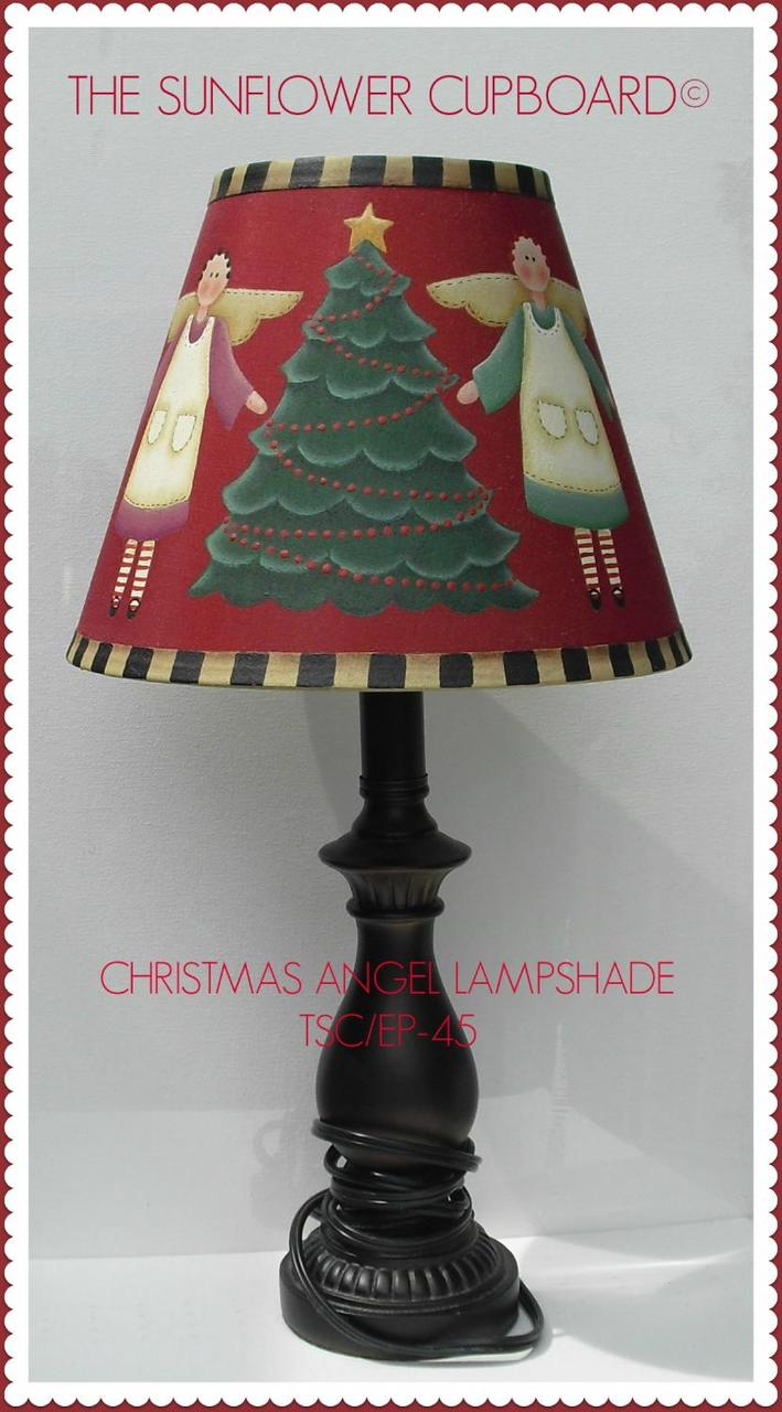 Christmas Angel Lampshade - E-Packet - Pat Jarrett