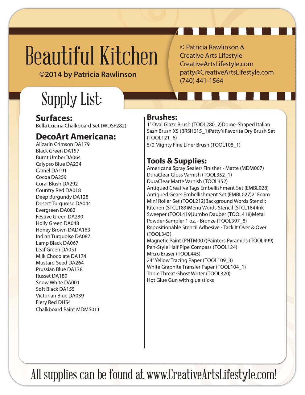 Beautiful Kitchen Pattern Packet - Patricia Rawlinson
