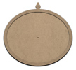 """Antique Oval Clock Surface with Overlay - 12"""" x 10"""" - WDSF1401_1"""