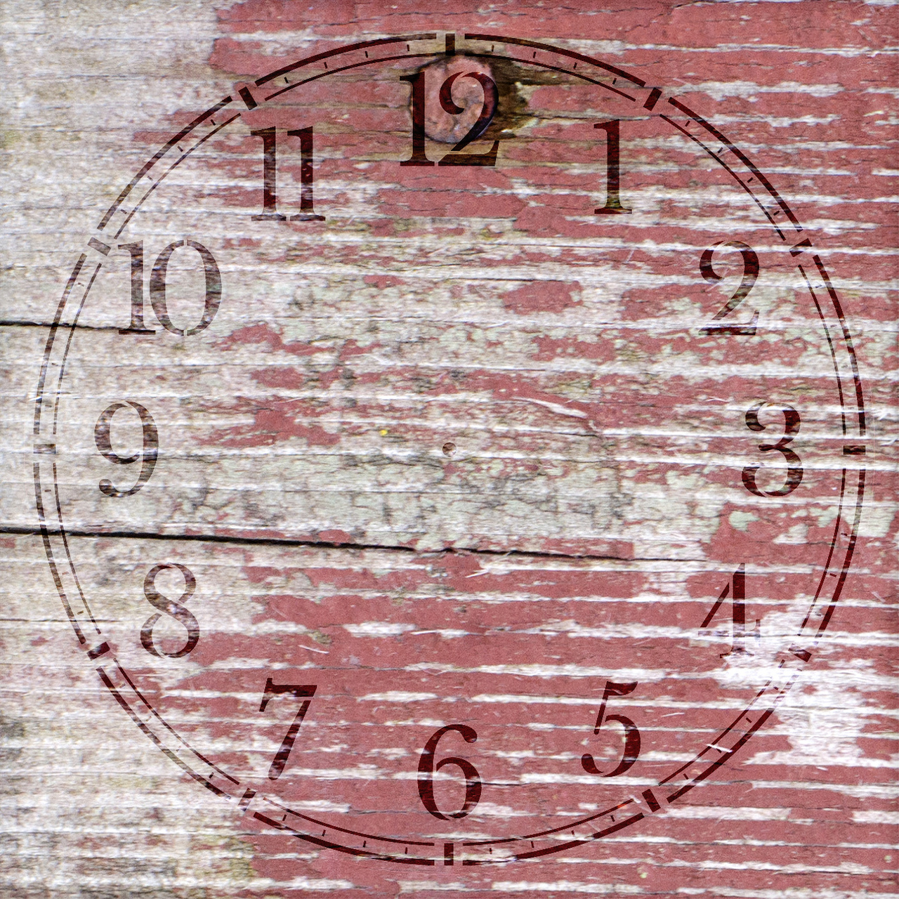 "Coffee House Clock Face Stencil - 12"" - STCL2331_1 - by StudioR12"