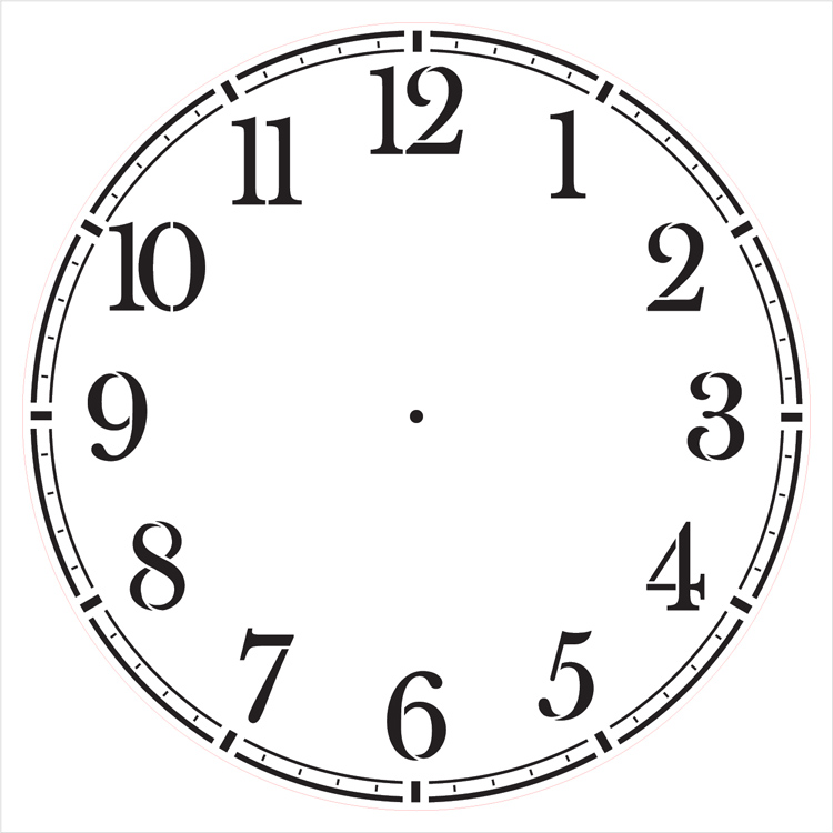 """Coffee House Clock Face Stencil - 14"""" - STCL2331_3 - by StudioR12"""