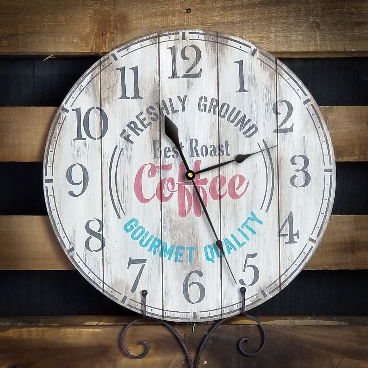 "Coffee House Clock Face Stencil - 18"" - STCL2331_7 - by StudioR12"