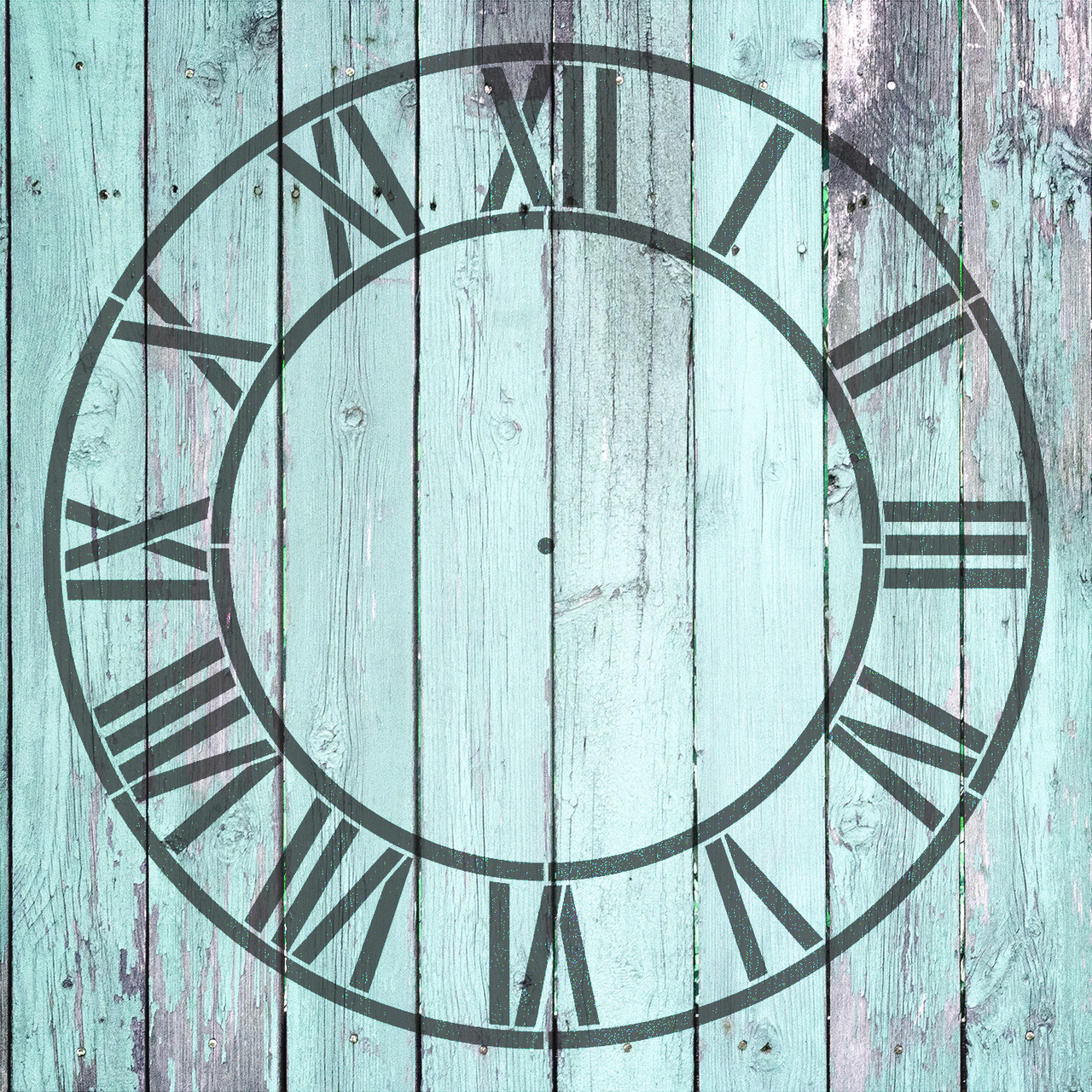 "Country Home Clock Face Stencil - 12"" - STCL2332_1 - by StudioR12"