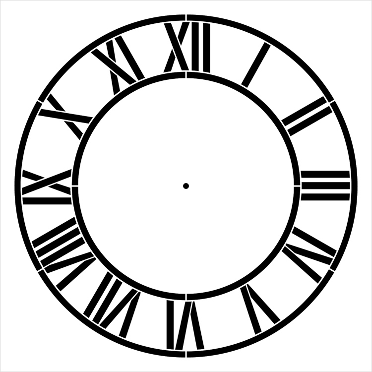 """Country Home Clock Face Stencil - 24"""" - 2 piece - STCL2332_13 - by StudioR12"""