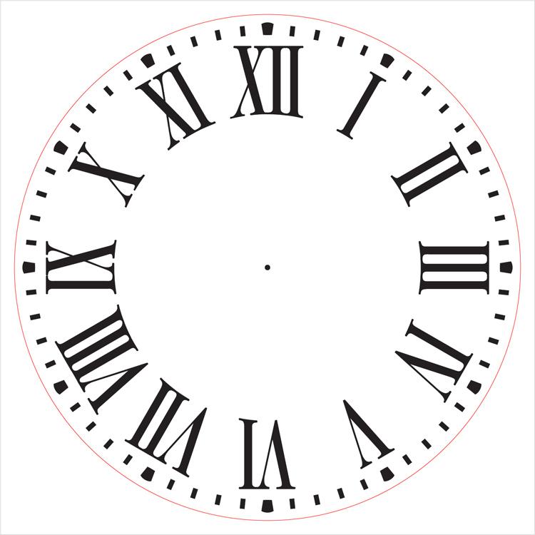 """Farmhouse Clock Face Stencil - 14"""" - STCL2336_3 - by StudioR12"""