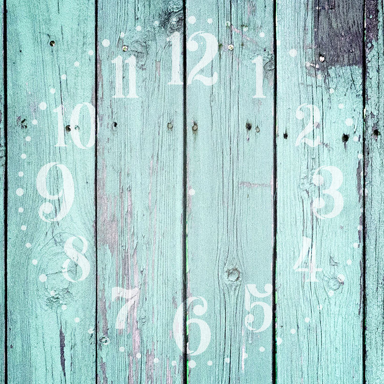 "Provincial Clock Face Stencil - 18"" - STCL2337_7 - by StudioR12"