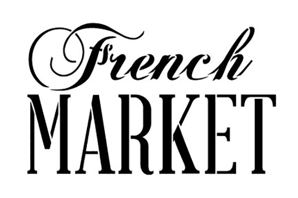 French Market Word Stencil By Studior12 Painting Chalk Use For