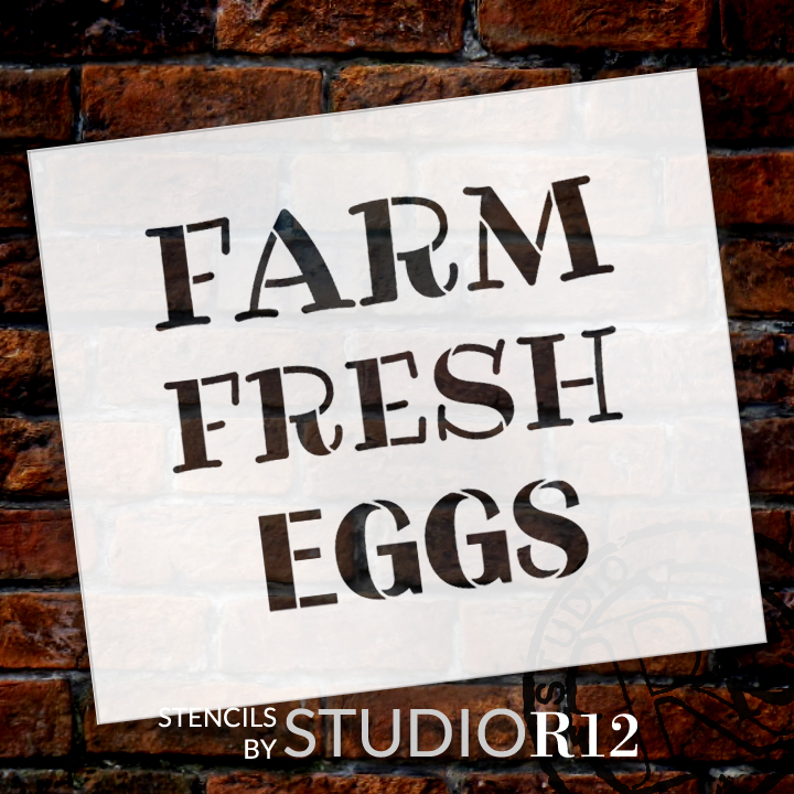 "Farm Fresh Eggs Word Stencil by StudioR12 - Fun Country Word Art - 20"" x 18"" - STCL2184_5"