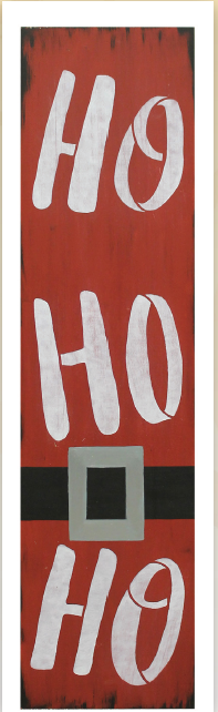 Ho Ho Ho Tall Porch Sign Pattern Packet - Patricia Rawlinson