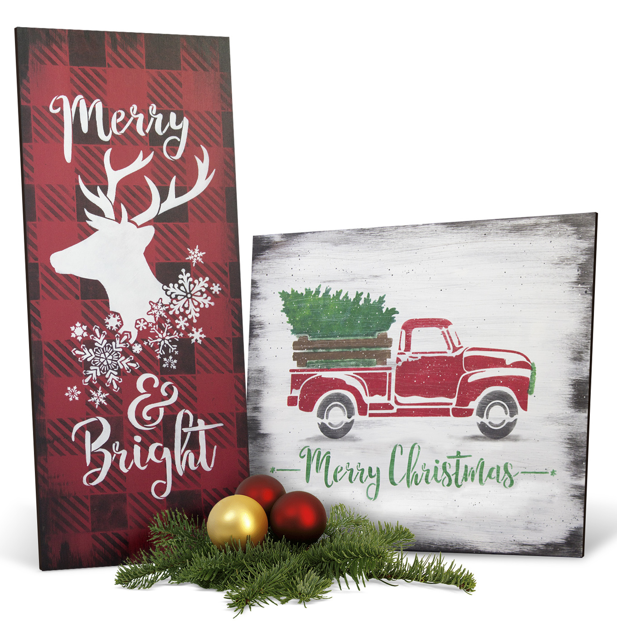 Vintage Christmas Project & Stencil Set